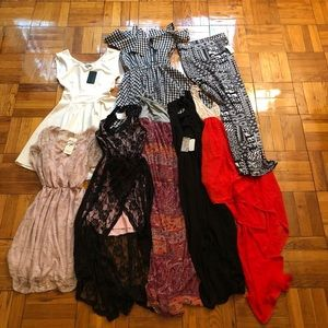 8 piece dress and skirt bundle